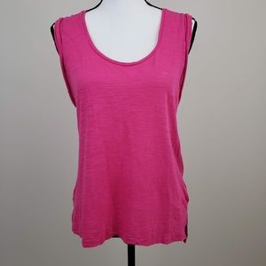 Banana Republic Solid Sleeveless Tank Top Pink
